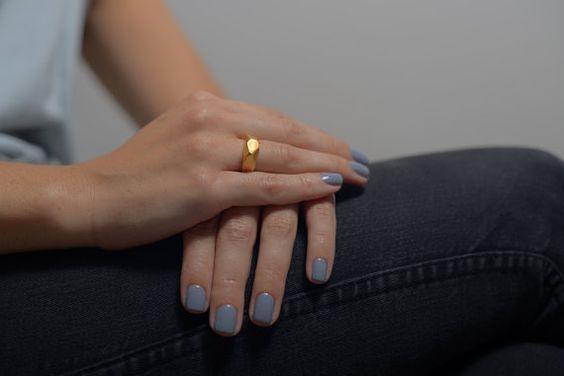 Facettes anneau d'or cadeau de vacances Valentines par StudioBALADI