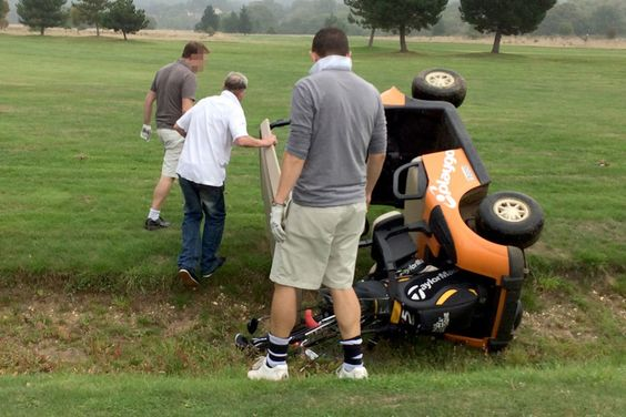 Drunk driving, even while golfing is dangerous