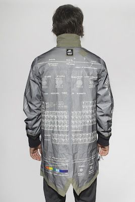 Very cool periodic table trench coat! i'd so wear this..ha ha to work!!!