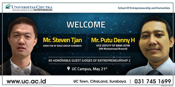 Welcome Our Guest Judges of Entrepreneurship 2