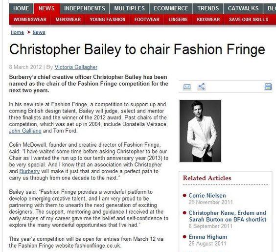 Fashion Fringe 2012 Launch - Drapers