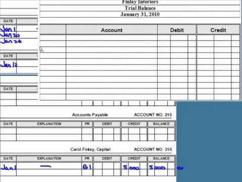 Posting to the General Ledger - YouTube School Pinterest - accounting ledgers templates