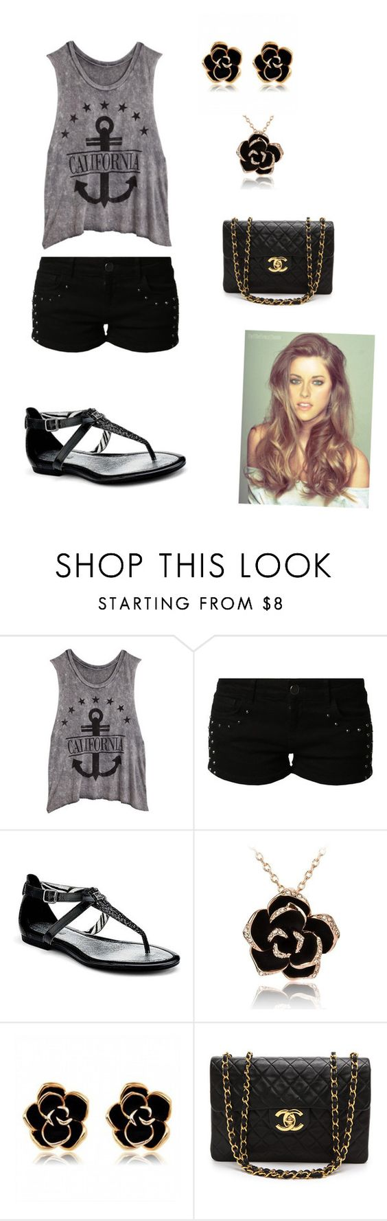 """Sem título #7"" by mariie1d ❤ liked on Polyvore featuring mode, even&odd, Sperry Top-Sider en Chanel"