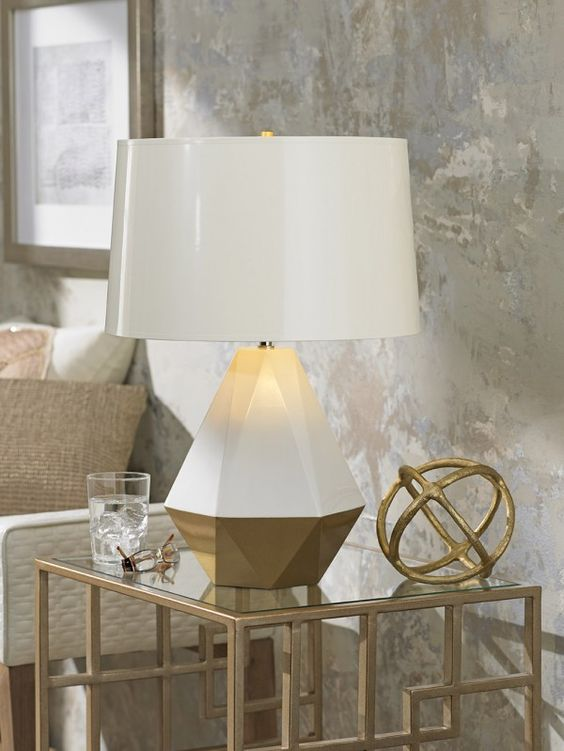 What I'm Loving from @Tobi McDaniel McDaniel McDaniel Fairley: The Robert Abbey Delta Duo table lamp in gold