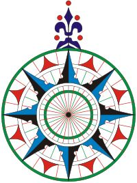 Rosa de los vientos de la carta náutica de 1504, del navegante portugués Pedro Reinel. Es la primera rosa de los vientos conocida que representa claramente la flor de lis como símbolo del Norte. Esta práctica fue adoptada en otras cartas náuticas y ha sobrevivido hasta la actualidad.- Wikipedia, la enciclopedia libre