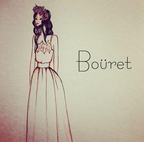 Ilustrando la nueva colección de novia @Boüret
