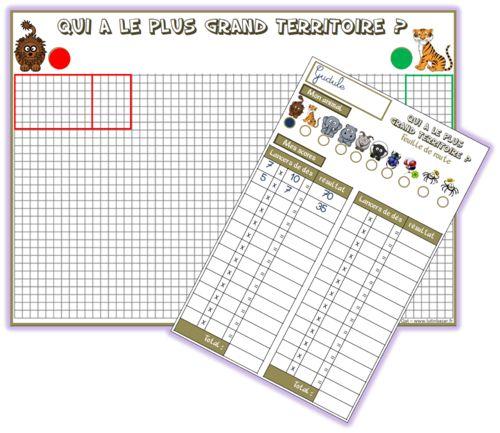 Ce1 qui a le plus grand territoire jeu sur la - Les tables de multiplication ce1 ...