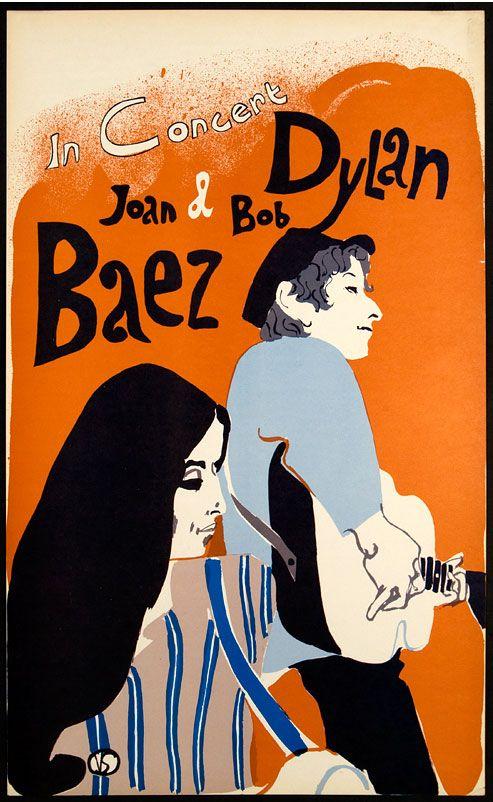 Bob Dylan – Joan Baez – 1965 Concert Poster
