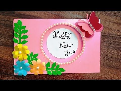 diy happy new year card for mother father friend sister brother family diy happy new year card for mother