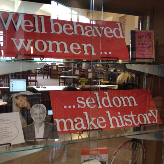 This is a fantastic idea for a Women's History Month display...with some bios and a few novels?  Brilliant!: