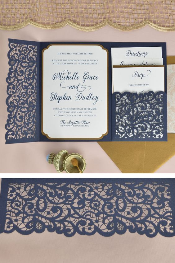 Pin On Laser Cut Wedding Invitation