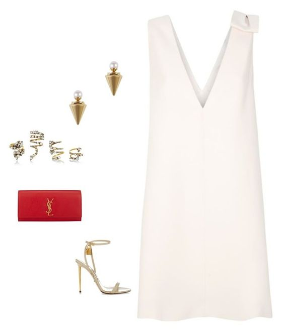 """""""LUCY"""" by ruhan-victor ❤ liked on Polyvore featuring Valentino, Vita Fede, Tom Ford, Erickson Beamon and Yves Saint Laurent"""