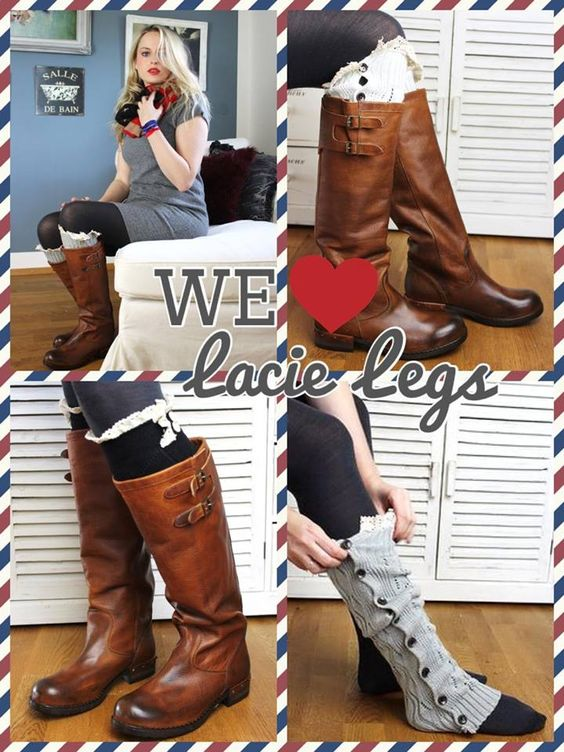 LACIE LEGS Socken & Stulpen mit Spitze  www.petit-fours.com #socken #spitze #vintage #stulpen #boots #stiefel #bootsocks #schwarz #kuschelig #weich #winter