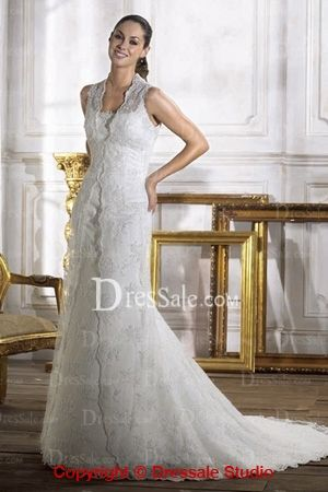Charming Spaghetti Straps Bridal Dress with Detachable Luxury Lace Coat