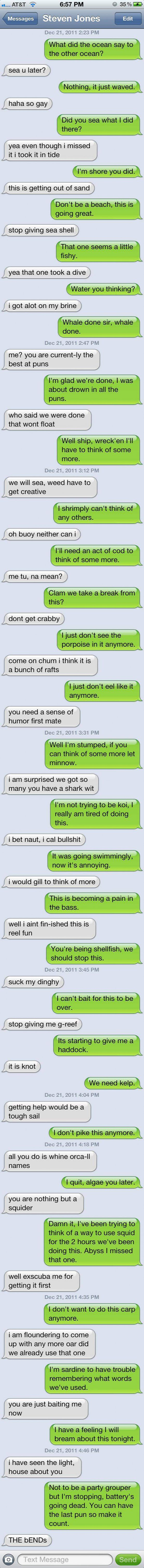 Awesome text exchange! :)