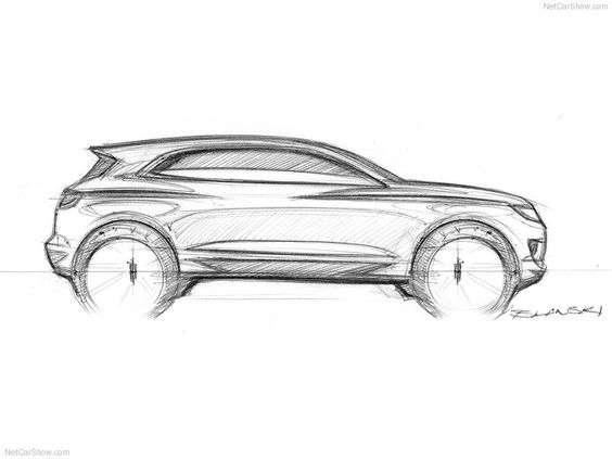 Lincoln Suv Side View Car Sketches Pinterest Lincoln Suv