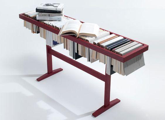 1 Booken Raw Edges Lema Bibliotheque Table Horizontale The Booken par Raw Edges et Lema la Bibliothèque Table Etagère