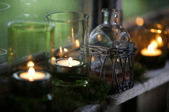 Sabiéndolos utilizar, los frascos de vidrio quedan muy elegantes.