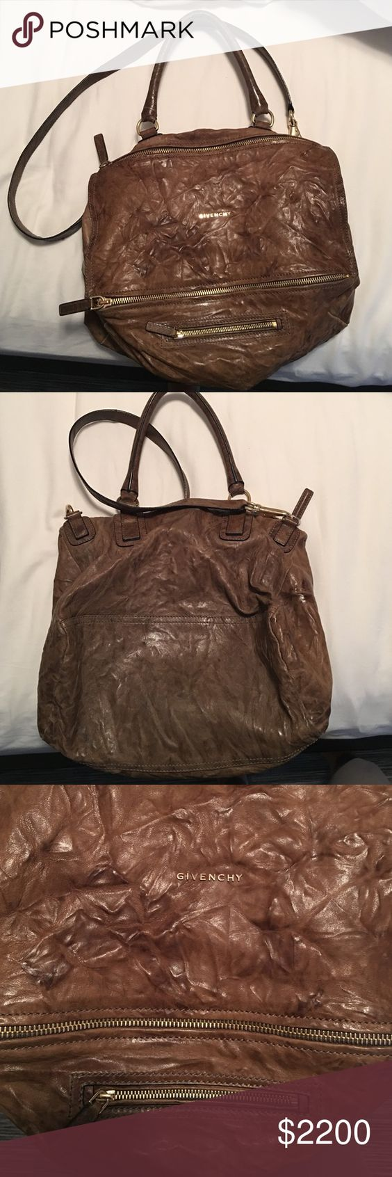 """Large size Givenchy pandora bag in """"pepe"""" leather Large size Givenchy pandora bag in """"Pepe"""" leather. Great condition, some wear on handles and leather but all around look of leather is supposed to be worn. 100% authentic. They discontinued this size so can't find anywhere! Givenchy Bags Crossbody Bags"""