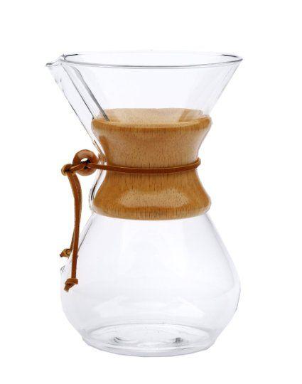 Chemex, Glaskaraffe mit Holzhals, 8 Gläser: Amazon.de: Küche & Haushalt