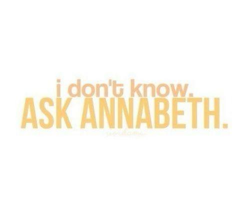 #AskAnnabeth