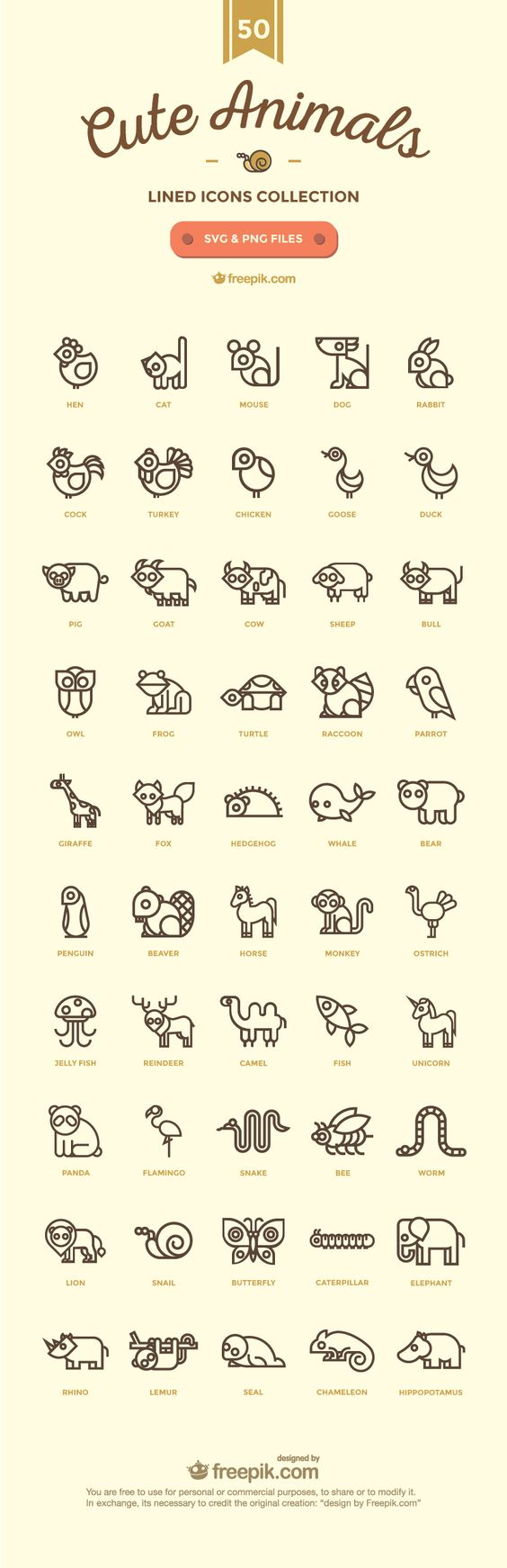50-Cute Animals-02. Easy conversion to 8 bit cross stitch.