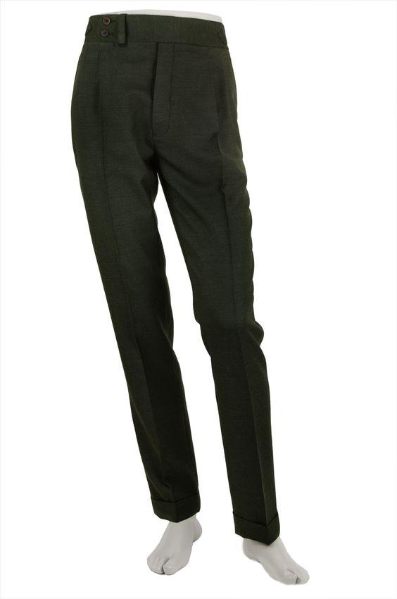 Pantalón P3 2P 9000 - Verdoso Composición: 100% lana. Color Verdoso