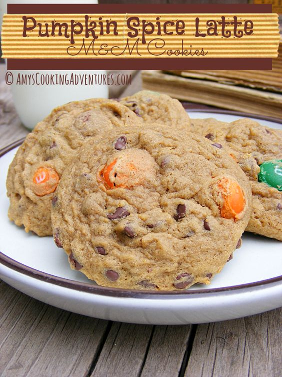 Amy's Cooking Adventures: Pumpkin Spice Latte M&M Cookies