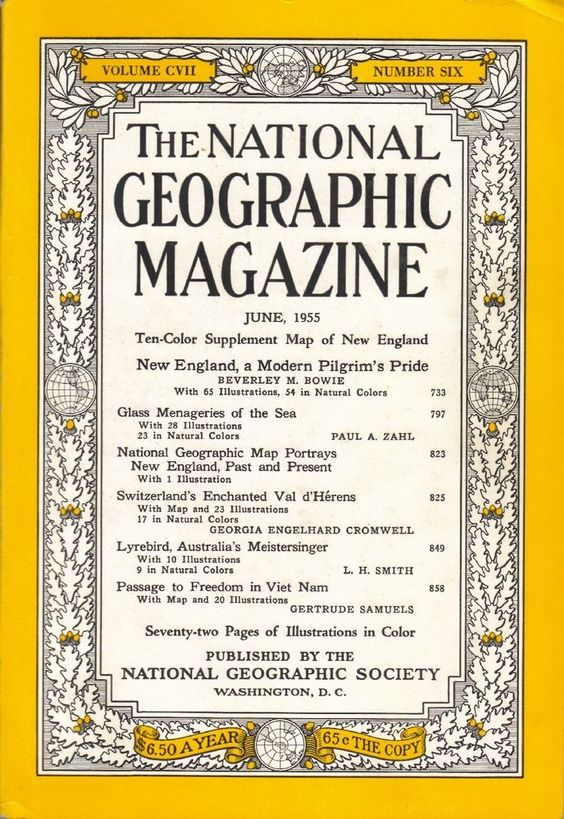 The National Geographic Magazine June 1955 w/o supplement~Coca-cola ad