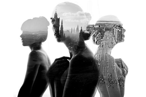 I ritratti in doppia esposizione di Aneta Ivanova #digitalart
