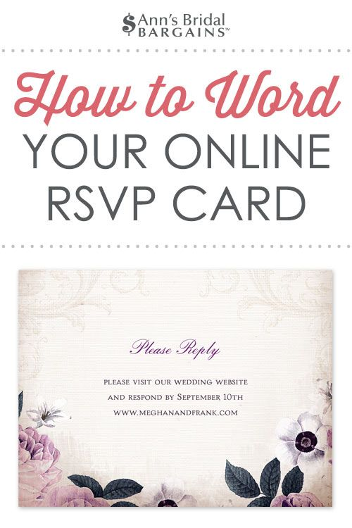 Response Card Wording Examples For Online Rsvps Rsvp Wedding Cards Wedding Reply Cards Wedding Rsvp Postcard