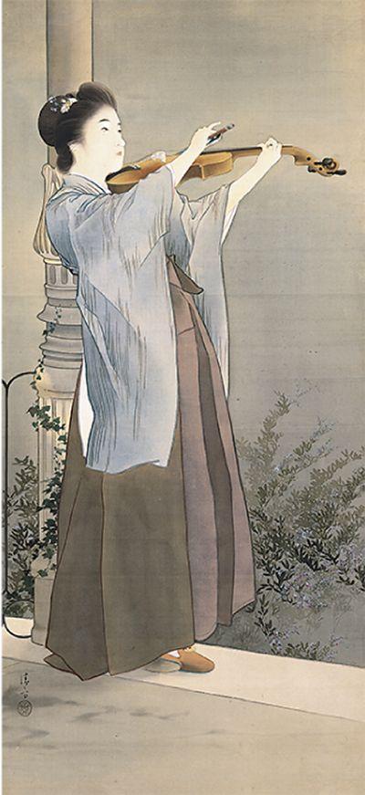 鏑木清方 Kiyokata Kaburagi (1878-1972)「秋宵」