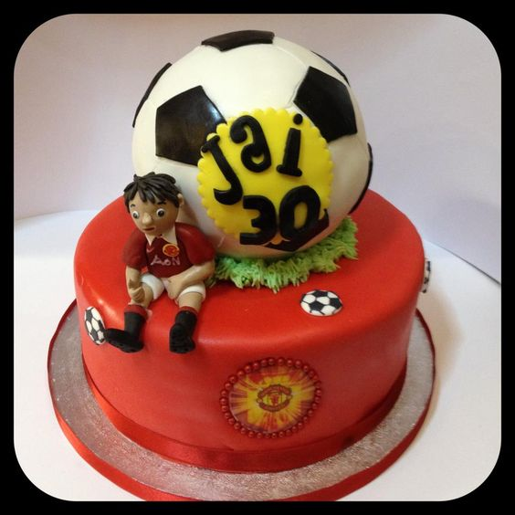 Manchester United cake - by Piece of Cake