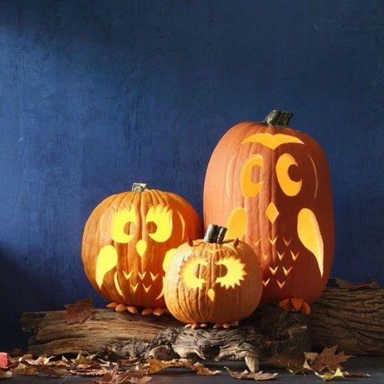 eule schnitzen vorlage  halloween kurbis schnitzvorlagen