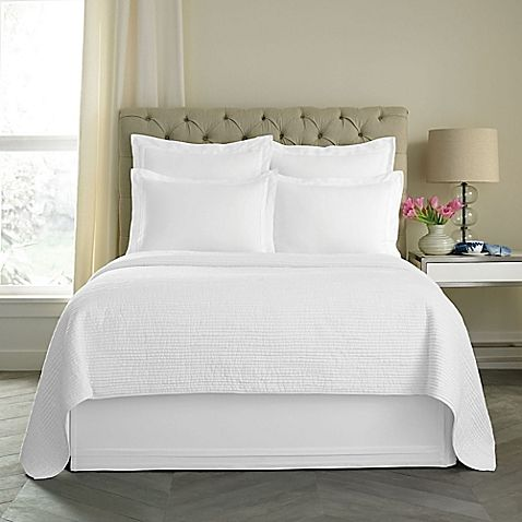 Wamsutta® Double Flange 15-Inch King Bed Skirt in White