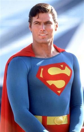 Christopher Reeves as Superman started my tall, dark, and handsome obsession as a kid!