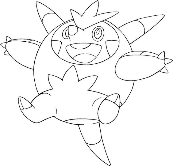 Boguerisse kleurplaat pokemonxandykleurplaten for Pyroar coloring pages