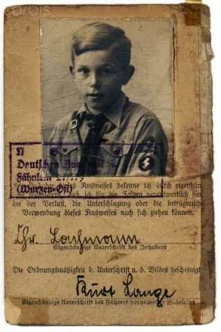 WW2 , Nazi Germany, Page From Hitler Youth Identity Book
