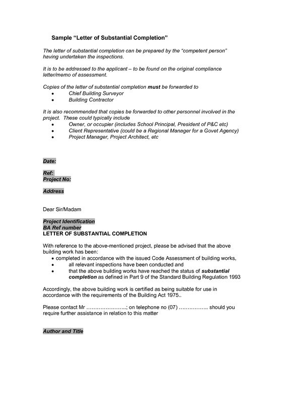 sample certificate of project completion