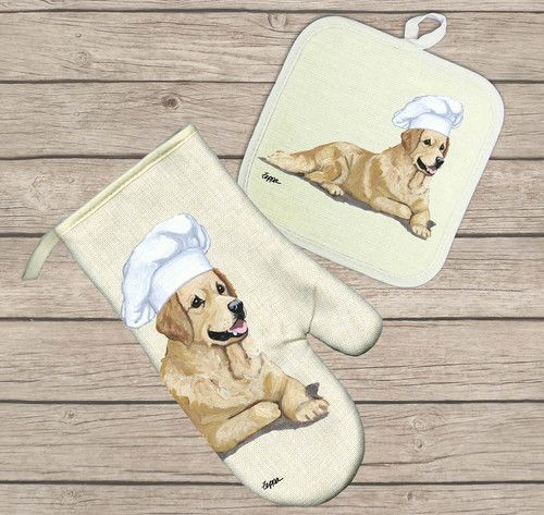 Hot Paws Oven Mitts And Pot Holders With Images Dog Gifts
