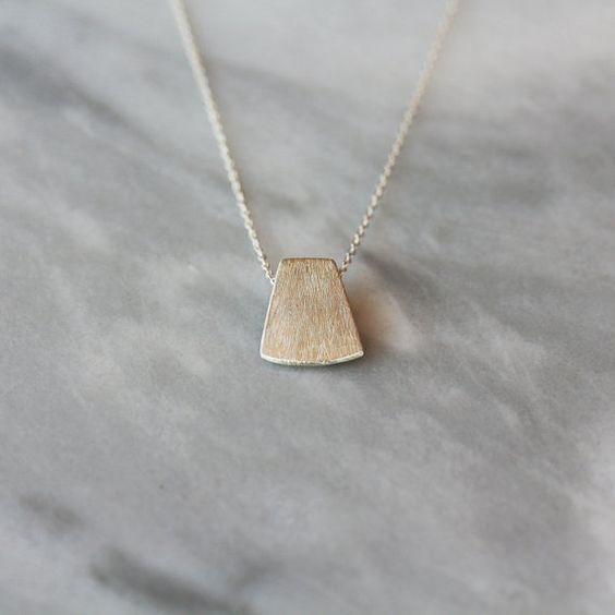 Silver Blade Necklace Sterling Silver Layering by ShopClementine