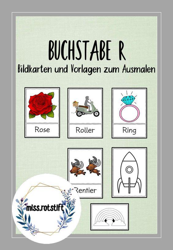 Buchstabe R Alphabetisierung Bildkarten Anlaut Unterrichtsmaterial Im Fach Deutsch Bildkarten Anlaute Buchstaben
