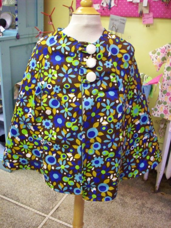 retro flower cape size 4T by bluemonday on Etsy, $25.00