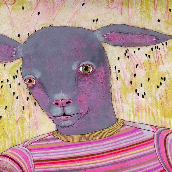 black sheep - original painting. Jennifer Davies