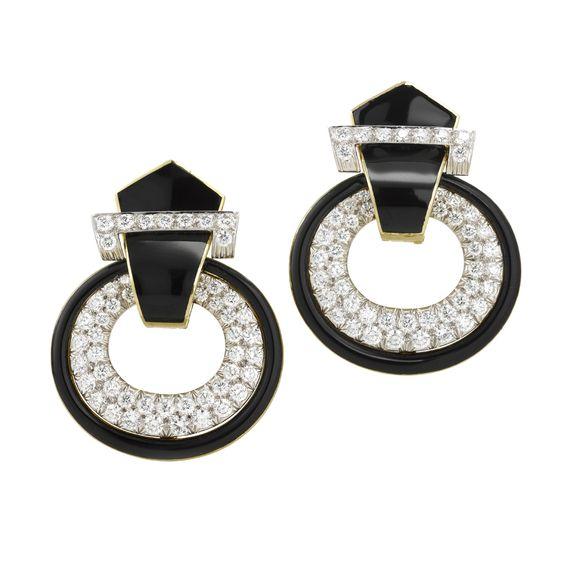 David Webb | Categories | earrings | Deco Doorknocker Earrings