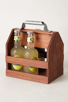 Anthropologie Wooden Beverage Caddy #anthrofave #anthropologie