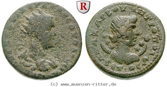 RITTER Kilikien, Anazarbos, Volusianus, Triassarion, Selene #coins