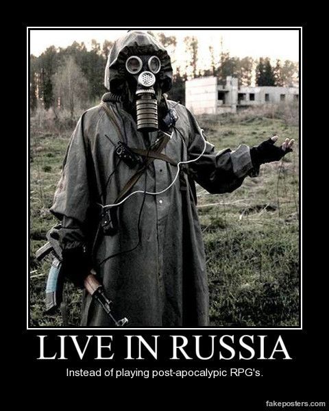 Live In Russia - Demotivational Poster