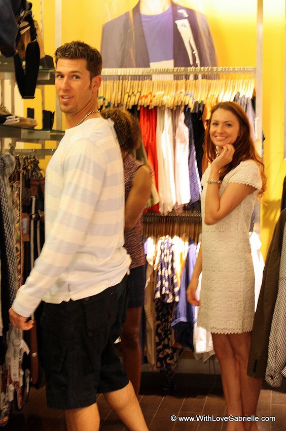 JP Arencibia shopping with Marta Tryshak at French Connection, Toronto: