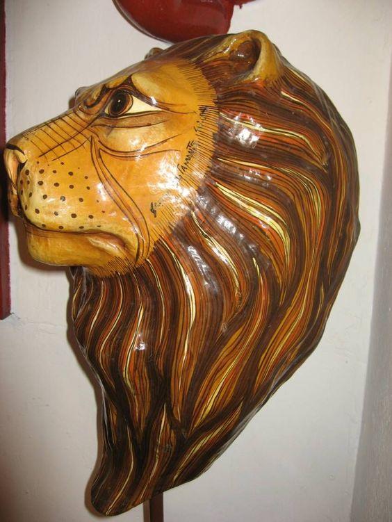 Sergio Bustamante Paper Mache Lion Head Limited Edition